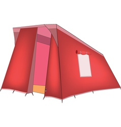 Red tent vector