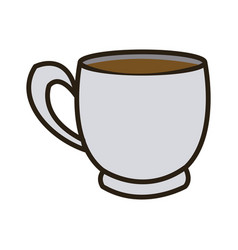 cartoon coffee cup beverage fresh icon vector image