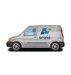 car vehicle van icon delivery cargo vector image