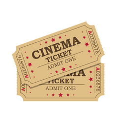 Retro cinema tickets vector