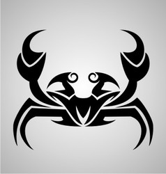 Crab Tattoo Design vector image