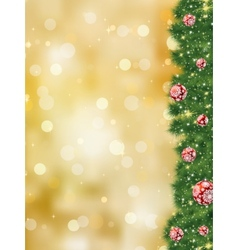 Thank you card a bright christmas EPS 8 vector image