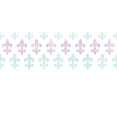 Abstract textile fleur de lis stripes horizontal vector