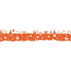 Seamless winter Christmas border vector image