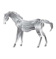 Metal horse isolated on white background vector