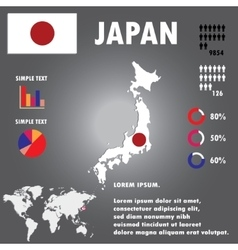 Japan map infographics vector