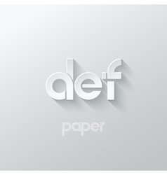 Letter d e f logo alphabet icon paper set vector