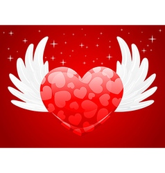 A sweet heart with wings vector