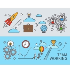 Working together in business concept vector