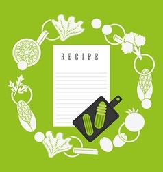 cooking recipe design vector image