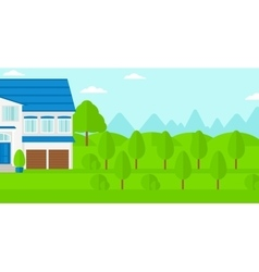 Background of cottage in forest vector