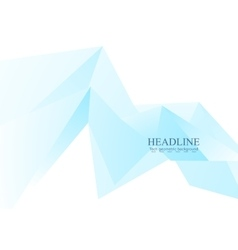 Blue low poly triangles tech background vector