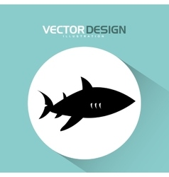 Shark icon design vector