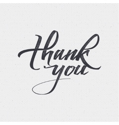 Thank you - card background lettering vector