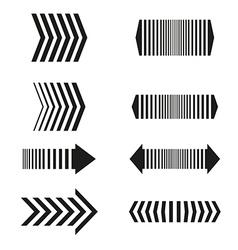 Arrows set linear design elements vector