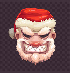 Bad santa mask on transparent background vector