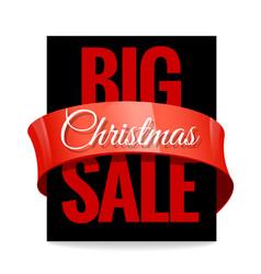 Big christmas sale black label vector