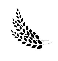 Black wheat branches icon image design vector