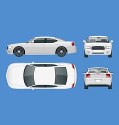 business sedan vehicle car template vector image vector image