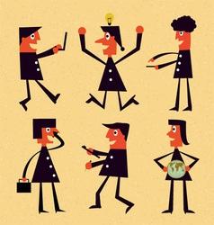 Cartoon business vector image