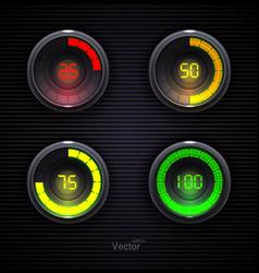 Colorful loading spinners preloader progress web vector