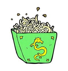 Comic cartoon noodle box vector