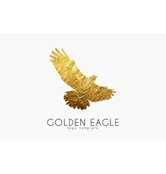 Eagle logo golden eagle golden bird logo vector
