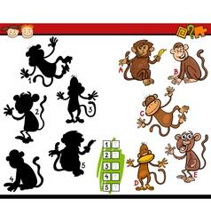 Education shadows game cartoon vector