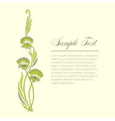 Few sprigs of dill decorative vector