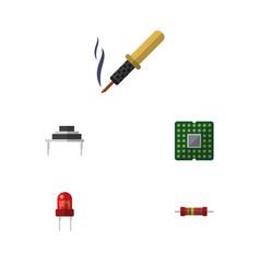 Flat icon appliance set of resistance unit vector