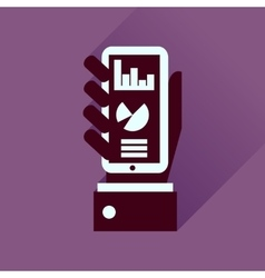 Flat icon with long shadow economic presentation vector