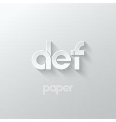 letter D E F logo alphabet icon paper set vector image vector image