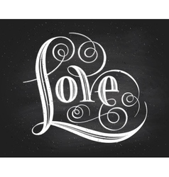 Love Hand lettering Handmade calligraphy vector image