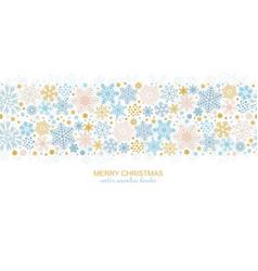 seamless snowflake border christmas decoration vector image