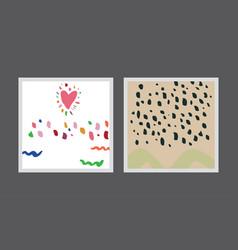 Set creative postcards vector