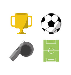 set flat icon tools sport vector image vector image