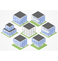 Set of isometric offices vector image vector image