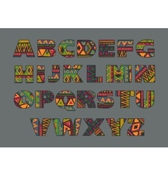 set of ornate capital letters with abstract vector image vector image