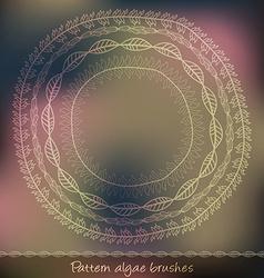 Set of pattern algae brushes vector image