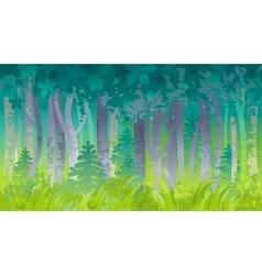 Spring summer forest landscape background Nature vector image