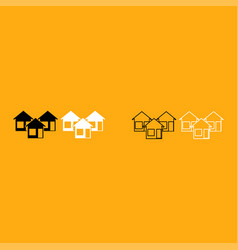 three house it is white icon vector image vector image
