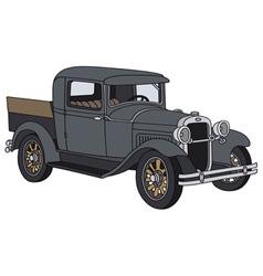Vintage pick-up vector