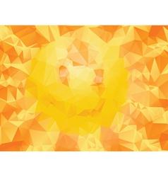 Yellow polygonal background2 vector