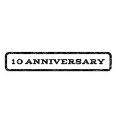 10 anniversary watermark stamp vector