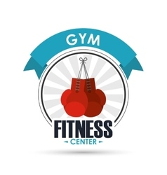 Boxing gloves icon fitness design graphic vector