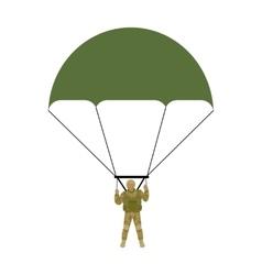 Military Parachutists vector image