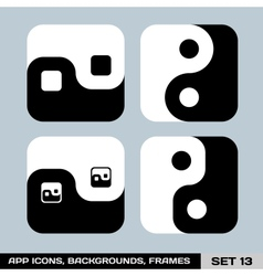 Set of app icon backgrounds frames templates set vector