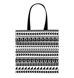 Shopping bag with ornaments for your design vector