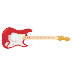 an electric guitar with strings vector image