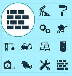 Architecture icons set collection of maintenance vector